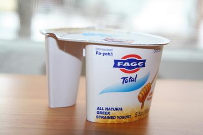 Fage green yogurt with honey