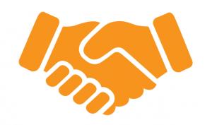 Graphic of handshake