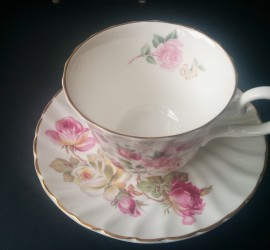 rose teacup and saucer